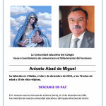 Fallecimiento del H. Aniceto Abad