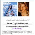 Fallecimiento de Mercedes Sigüenza